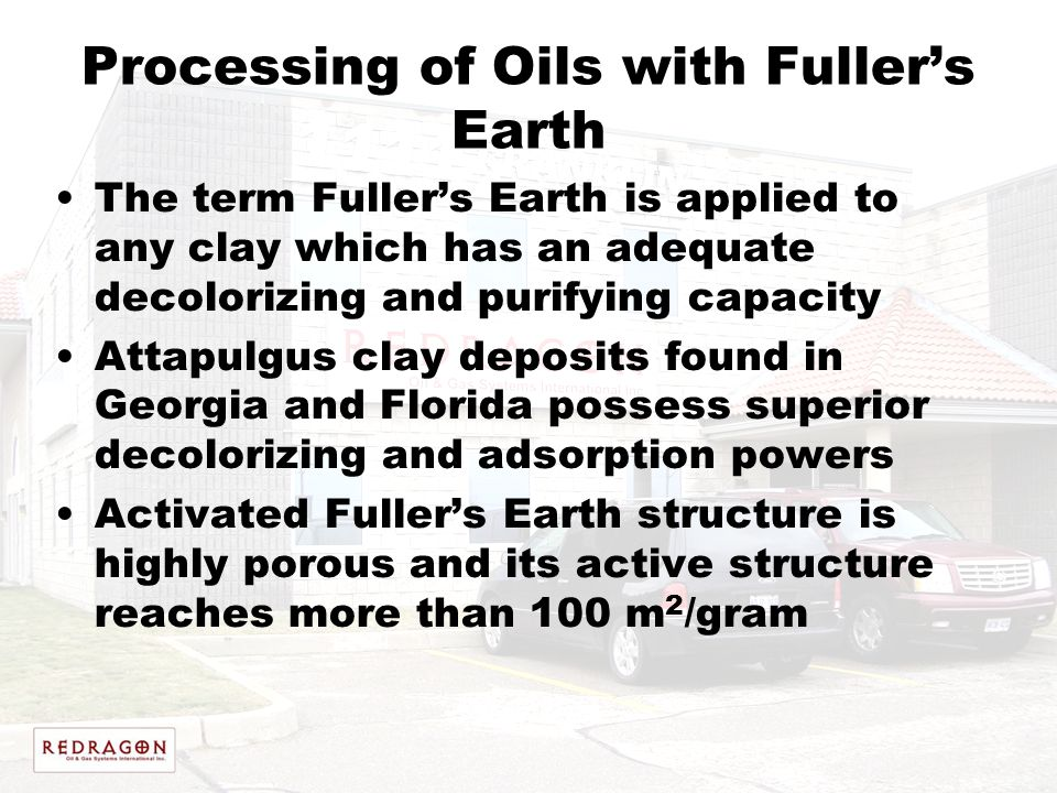 Processing of Oils with Fuller's Earth