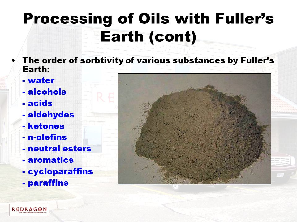 Processing of Oils with Fuller's Earth (cont)