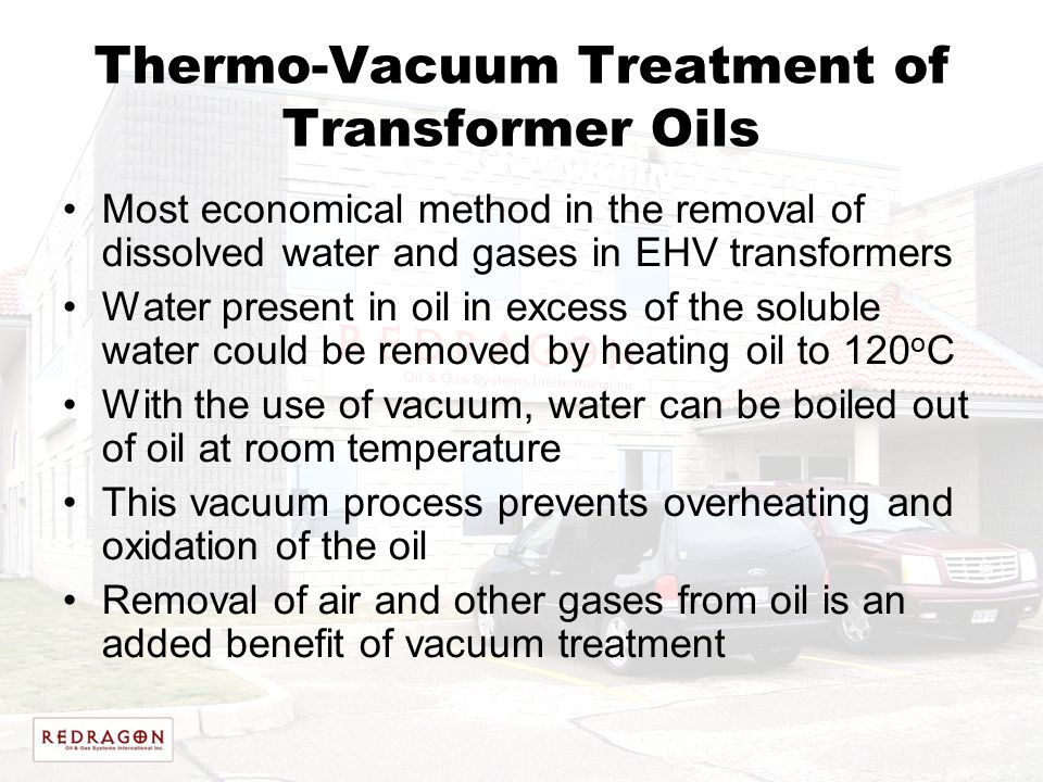 Thermo-Vacuum Treatment of Transformer Oils