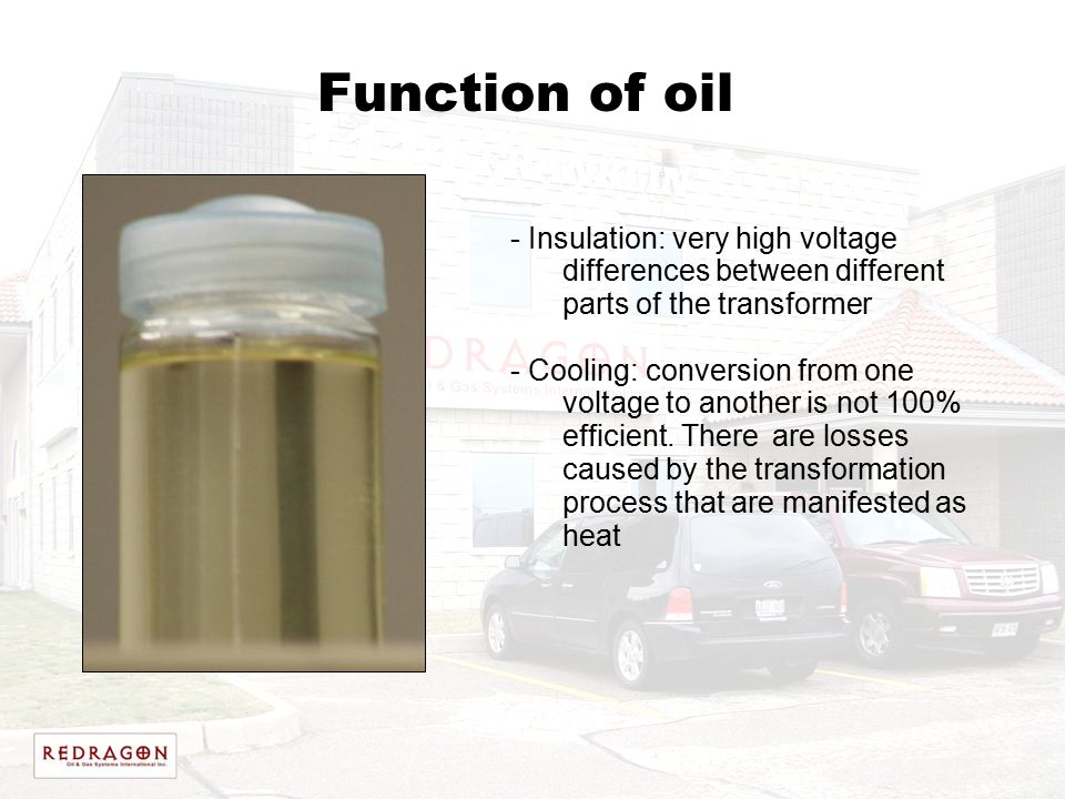 Function of oil Insulation: very high voltage