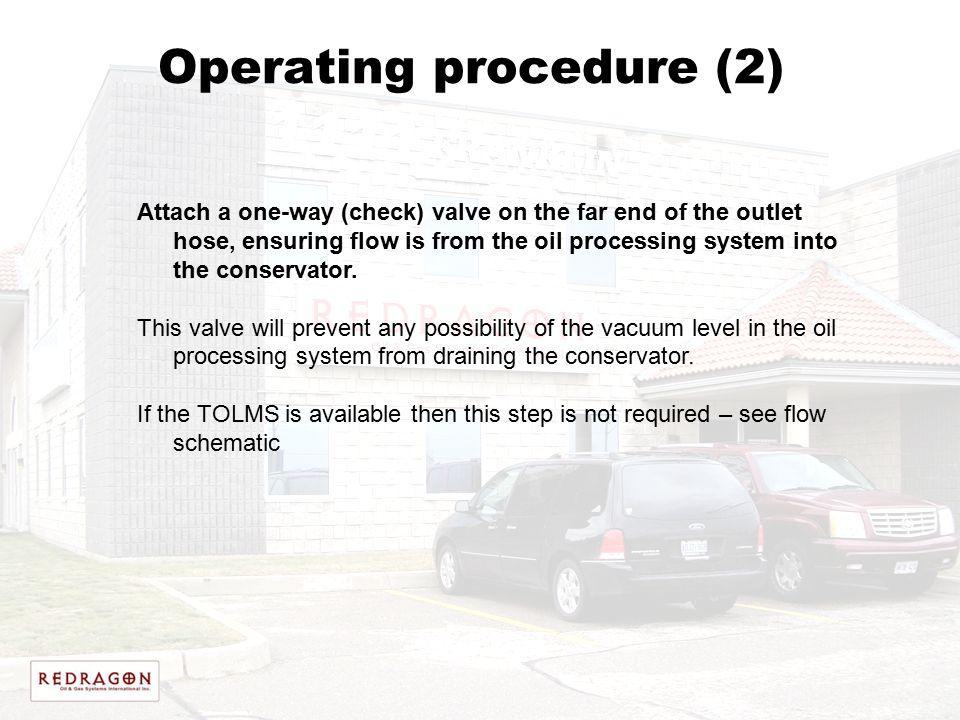 Operating procedure (2)
