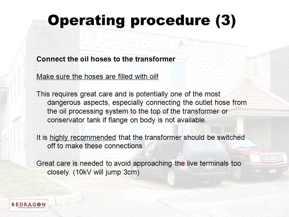 Operating procedure (3)