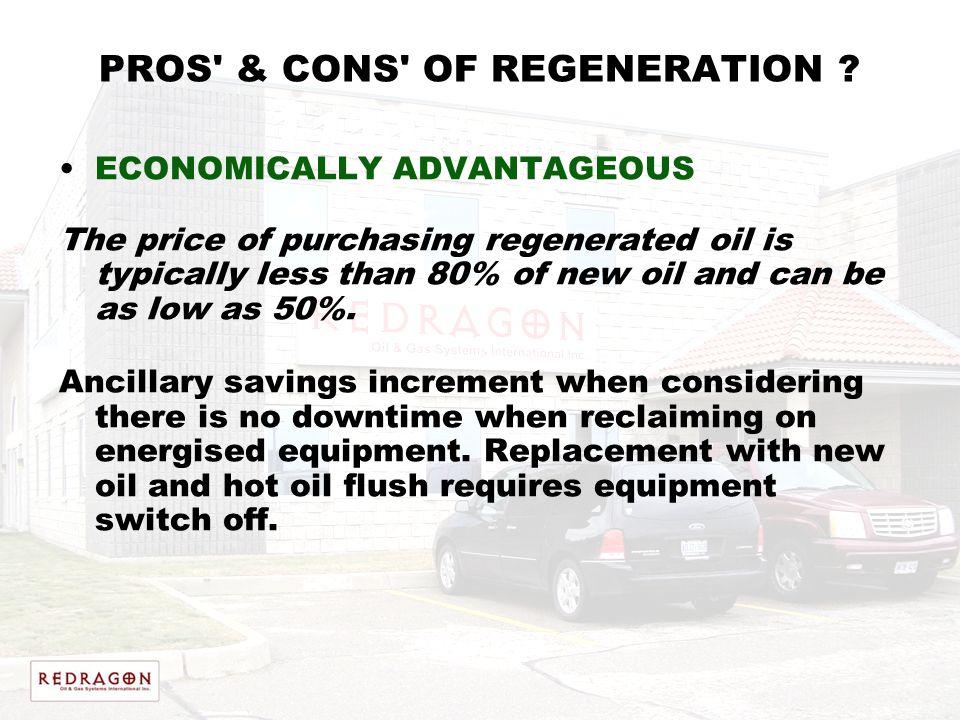 PROS & CONS OF REGENERATION