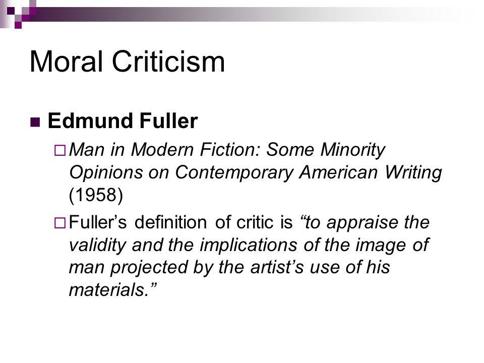 Moral Criticism Edmund Fuller