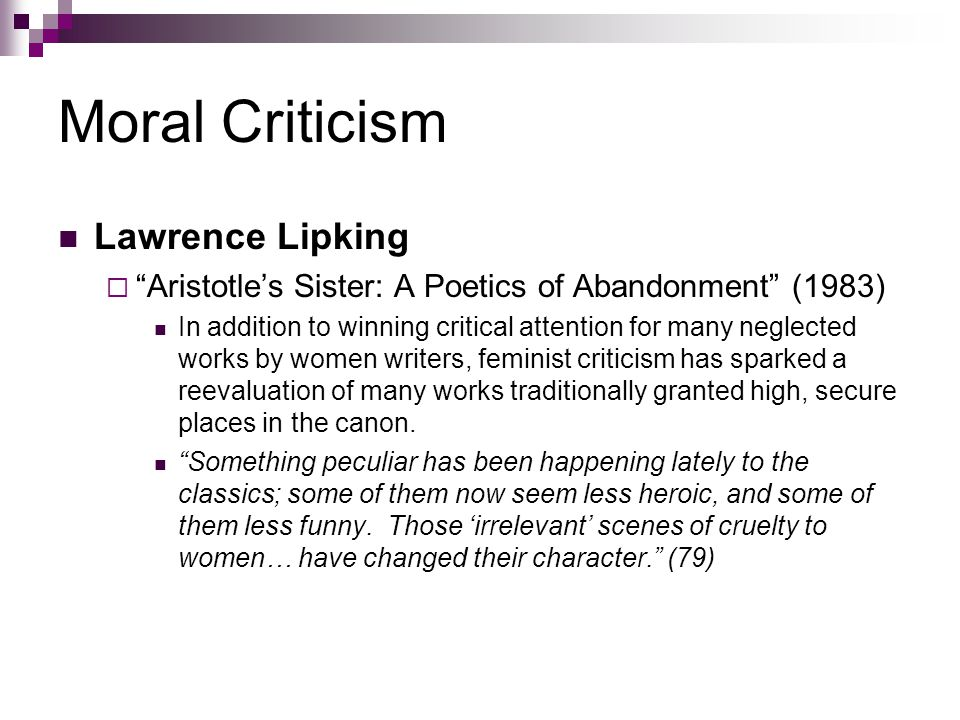 Moral Criticism Lawrence Lipking