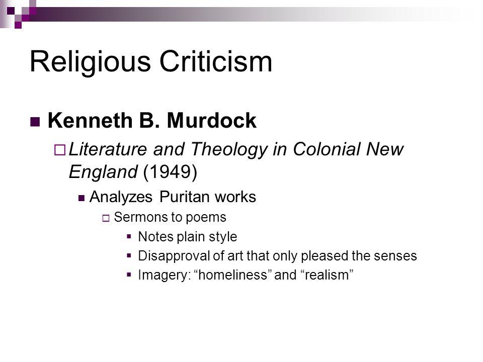 Religious Criticism Kenneth B. Murdock
