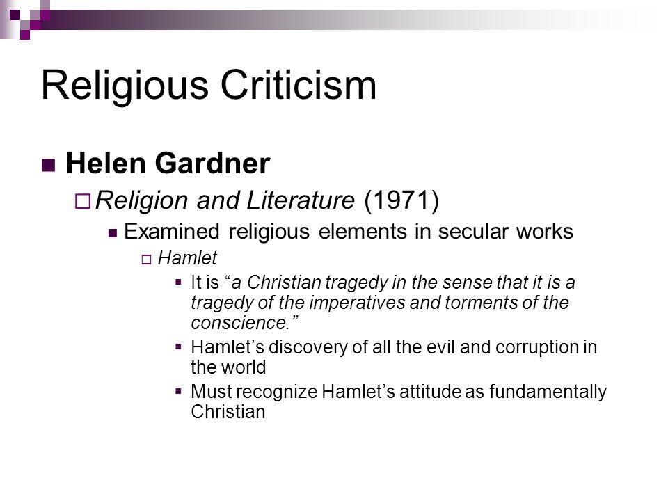 Religious Criticism Helen Gardner Religion and Literature (1971)