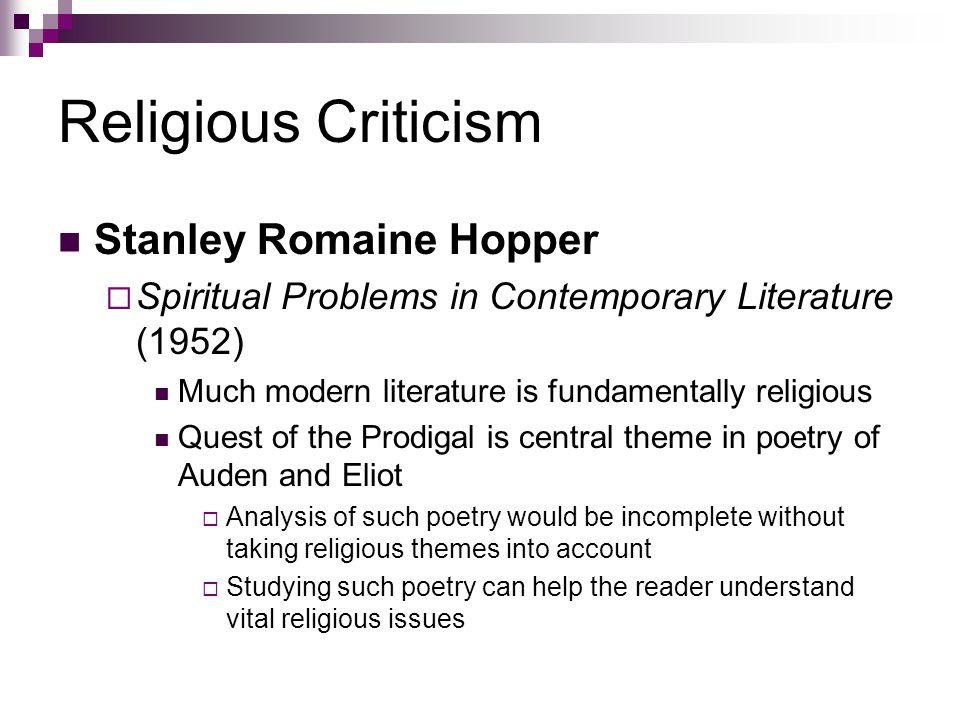 Religious Criticism Stanley Romaine Hopper