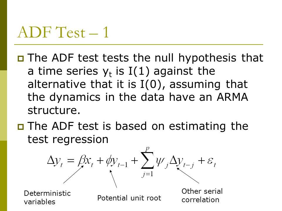 ADF Test – 1