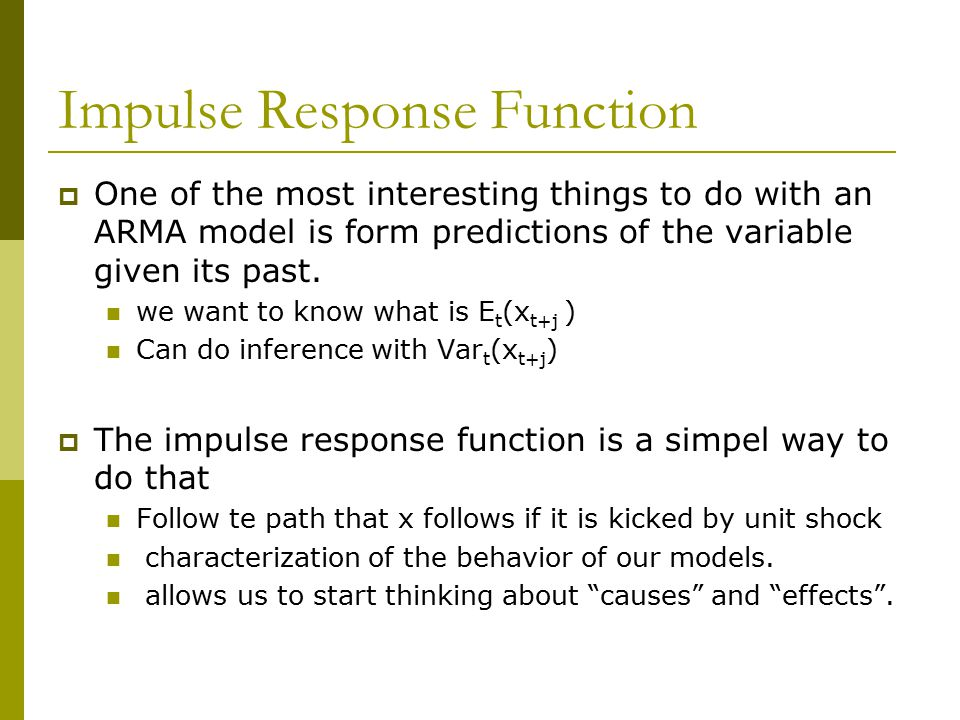 Impulse Response Function