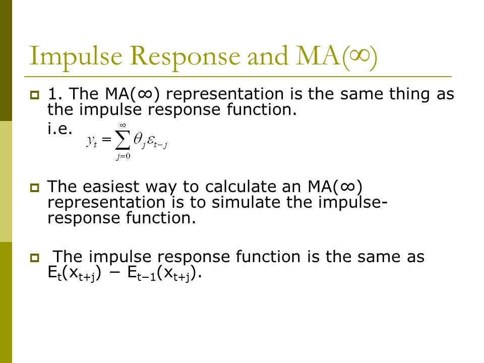 Impulse Response and MA(∞)