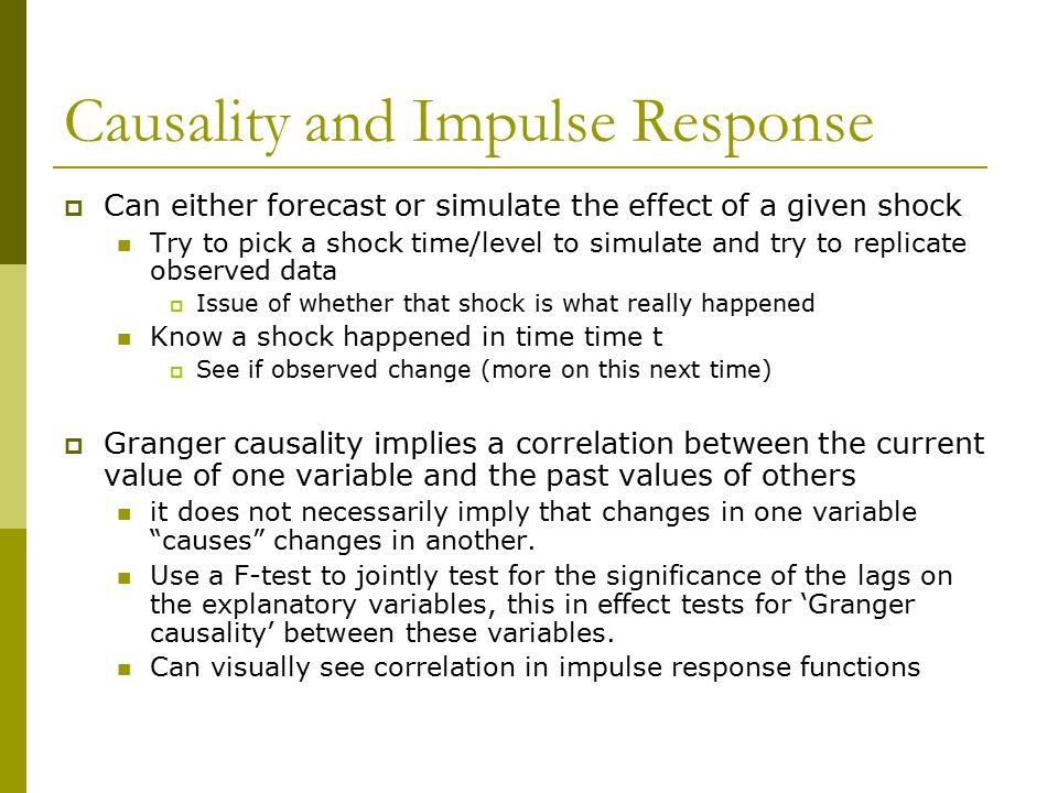 Causality and Impulse Response