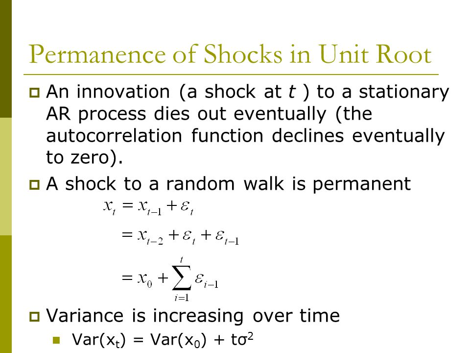 Permanence of Shocks in Unit Root