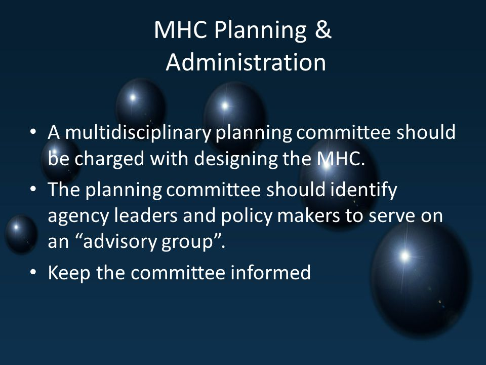 MHC Planning & Administration