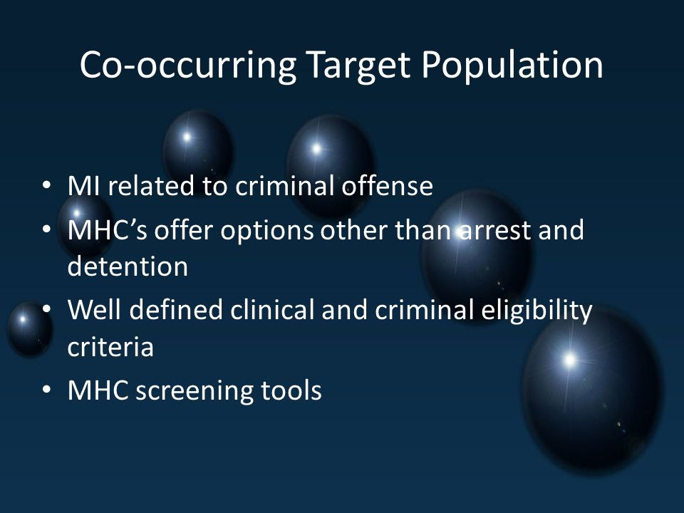 Co-occurring Target Population