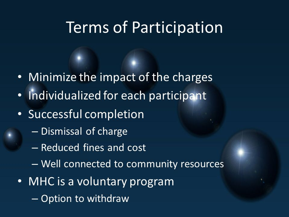 Terms of Participation