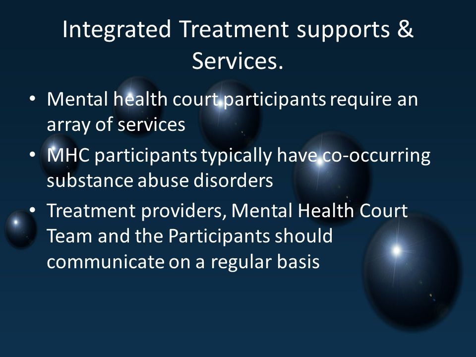 Integrated Treatment supports & Services.