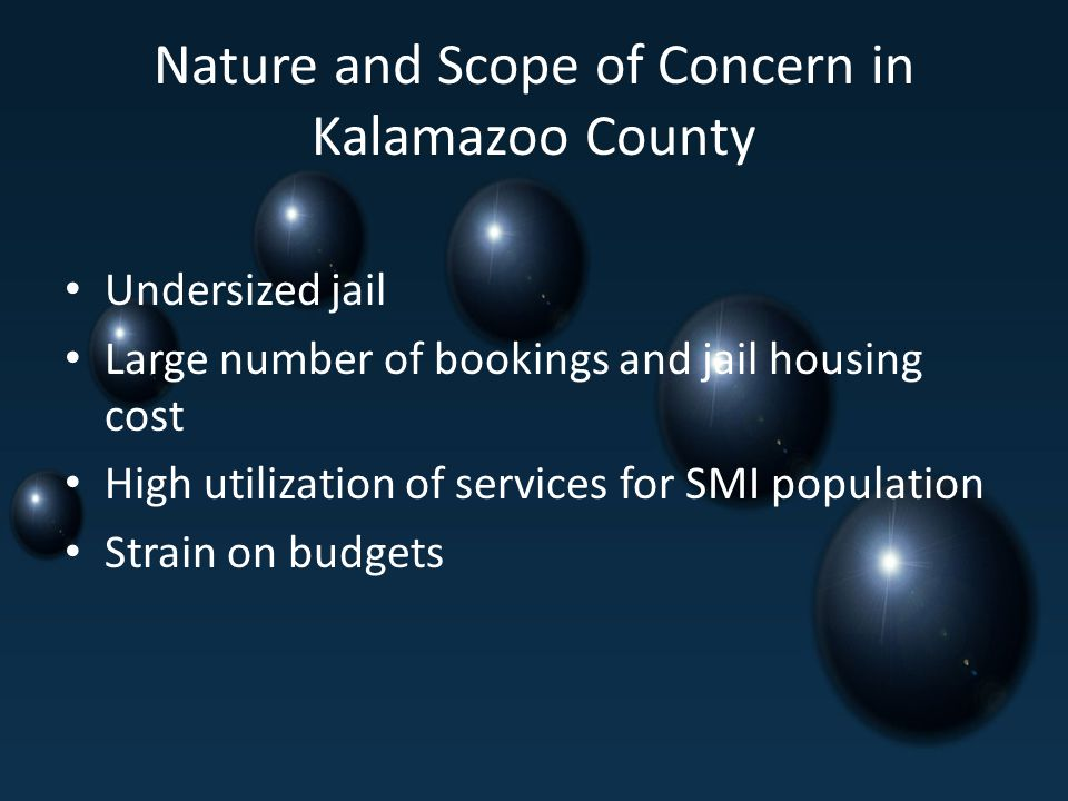 Nature and Scope of Concern in Kalamazoo County