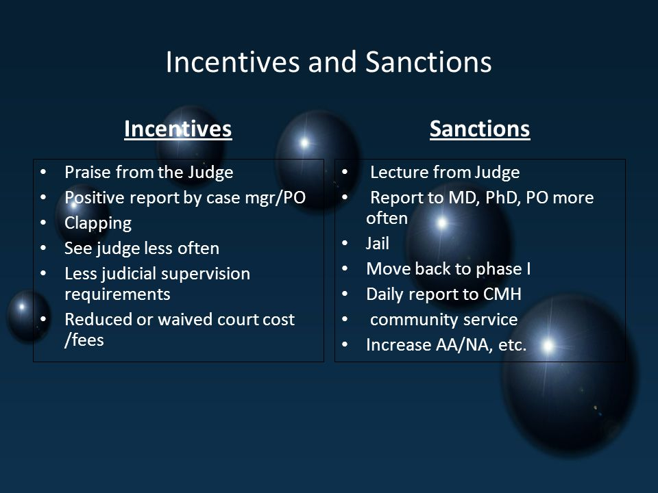 Incentives and Sanctions