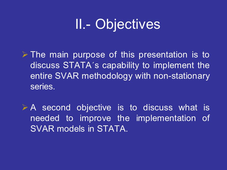II.- Objectives