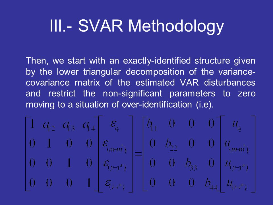 III.- SVAR Methodology