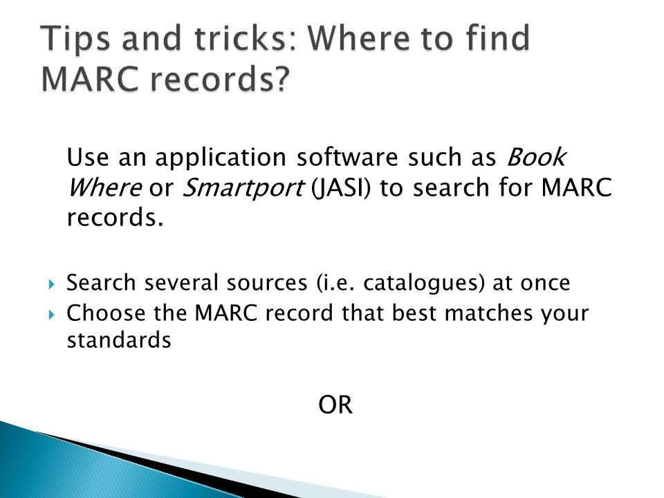 Tips and tricks: Where to find MARC records