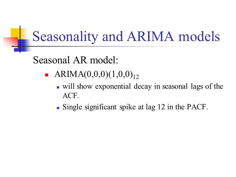 Seasonality and ARIMA models