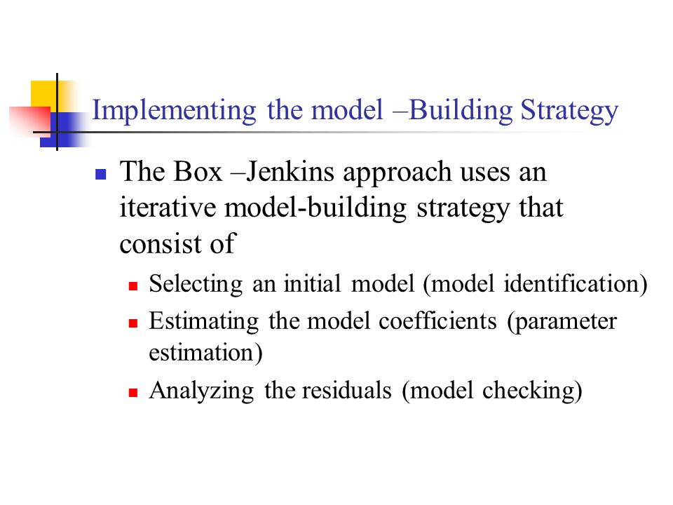 Implementing the model –Building Strategy