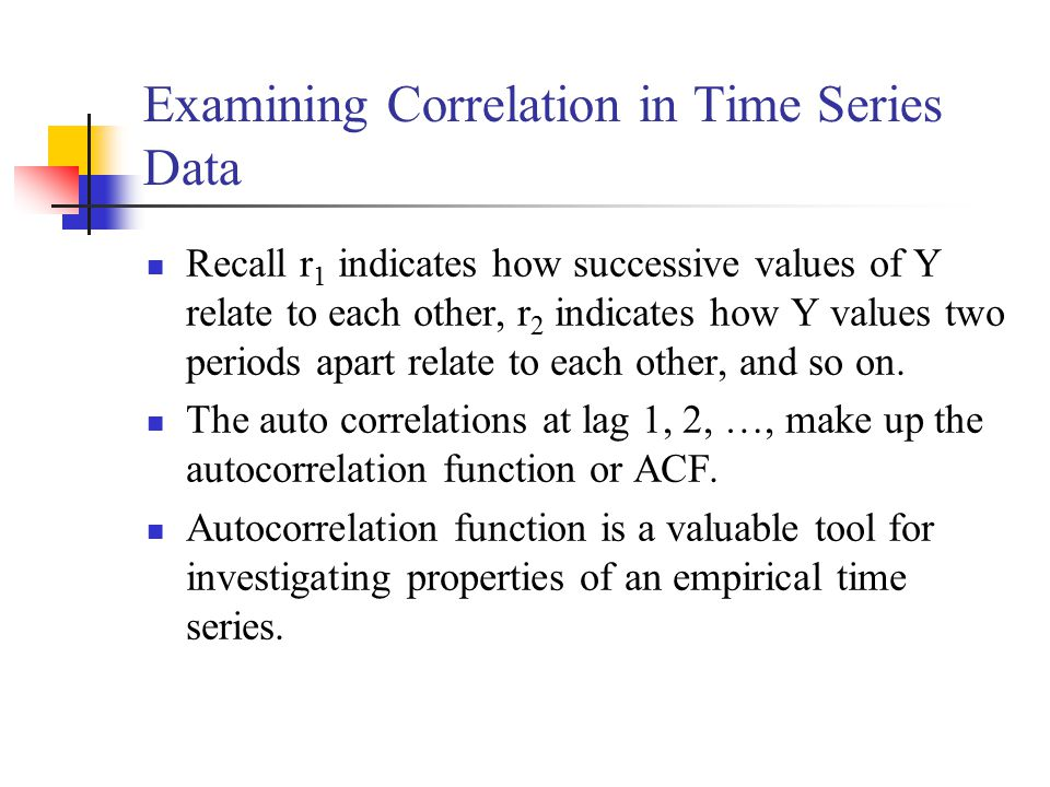 Examining Correlation in Time Series Data