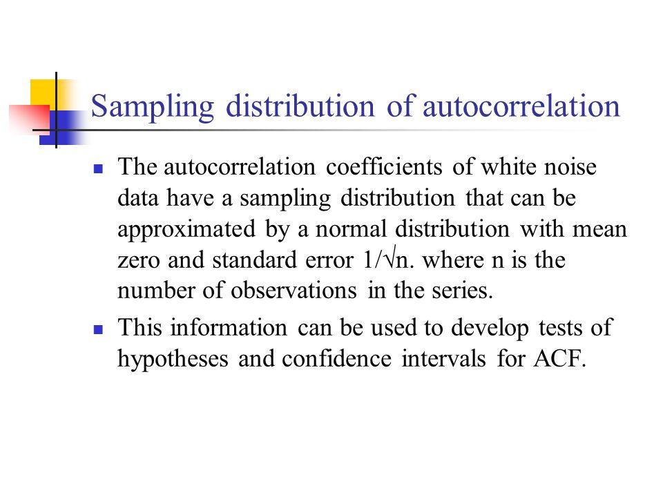 Sampling distribution of autocorrelation