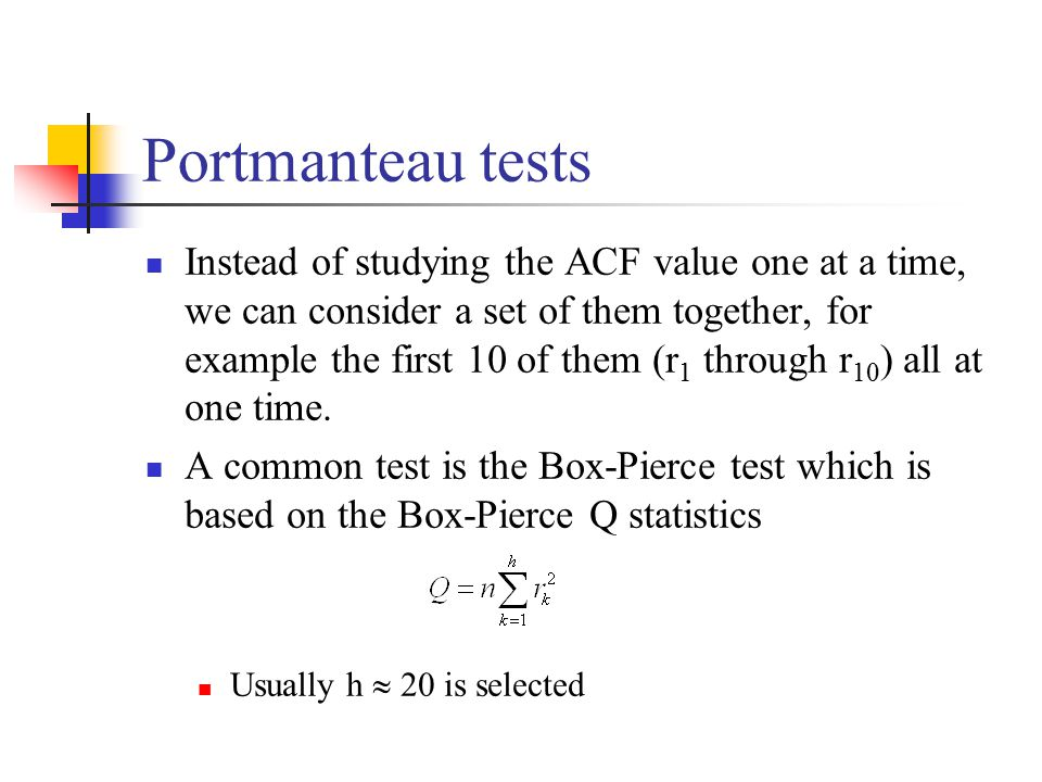 Portmanteau tests