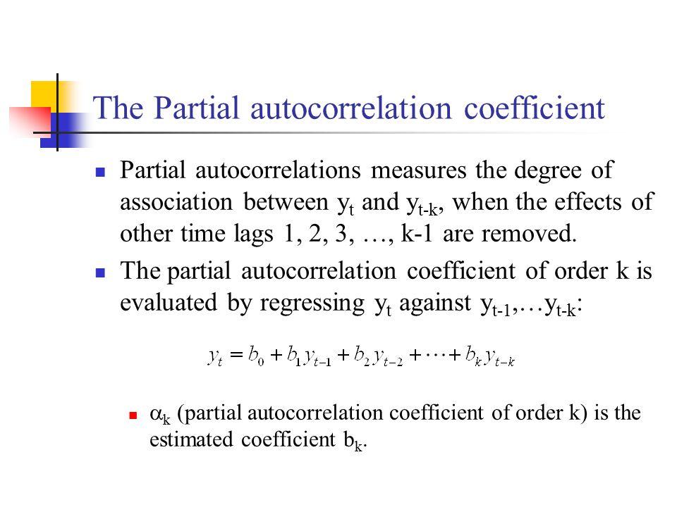 The Partial autocorrelation coefficient