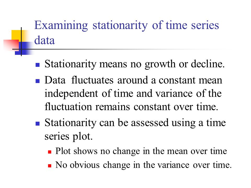 Examining stationarity of time series data