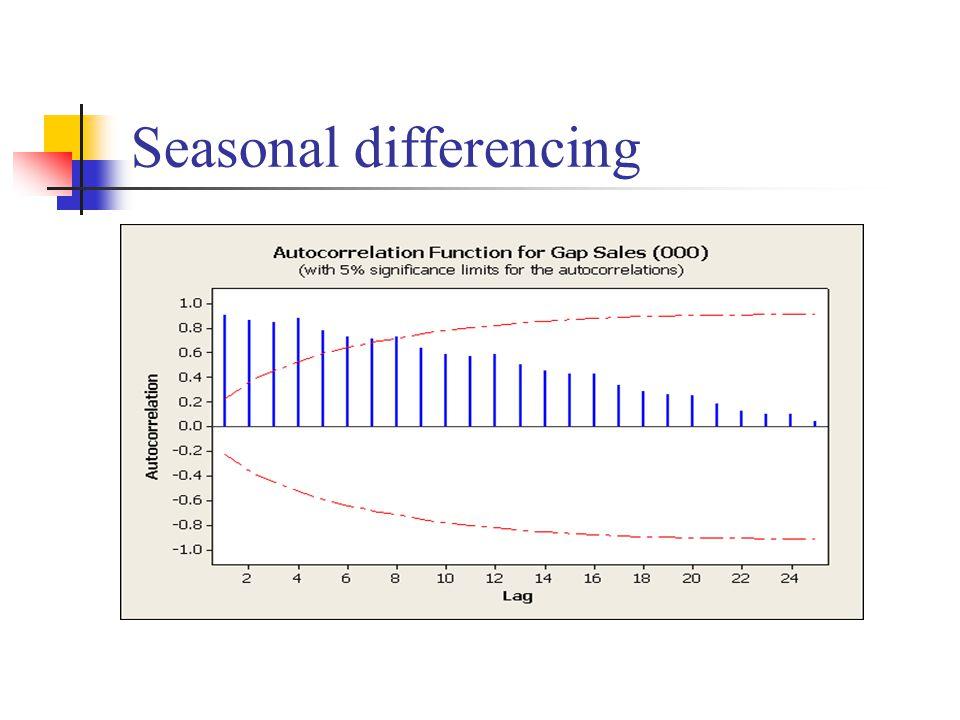 Seasonal differencing