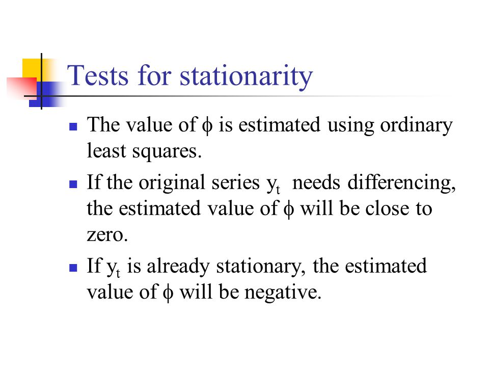 Tests for stationarity