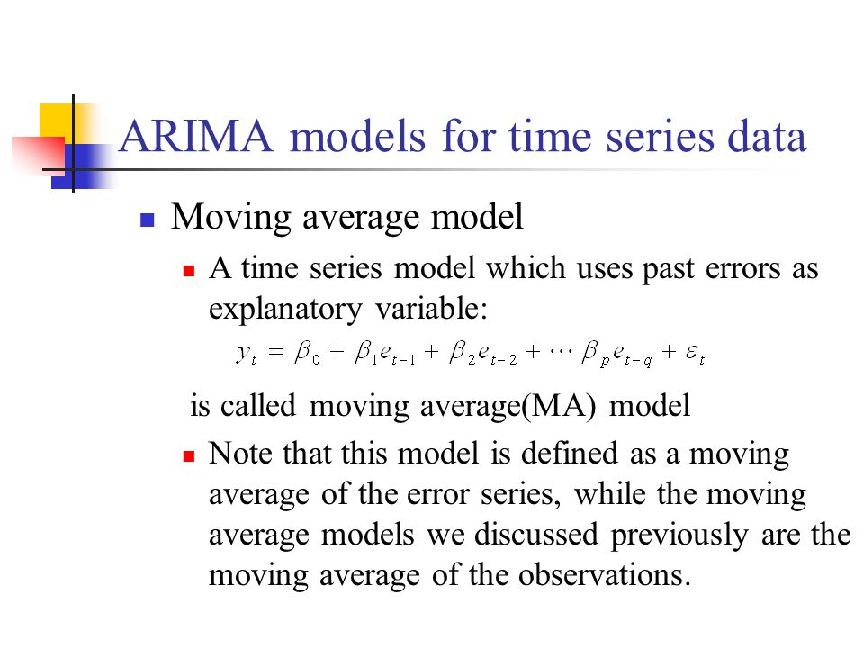 ARIMA models for time series data