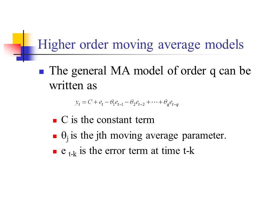 Higher order moving average models