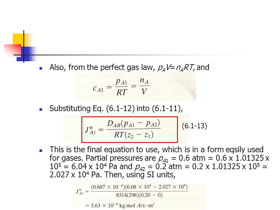 Also, from the perfect gas law, pAV=nART, and