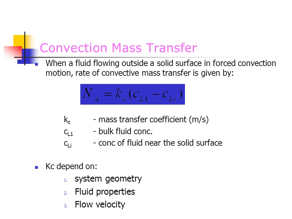 Convection Mass Transfer