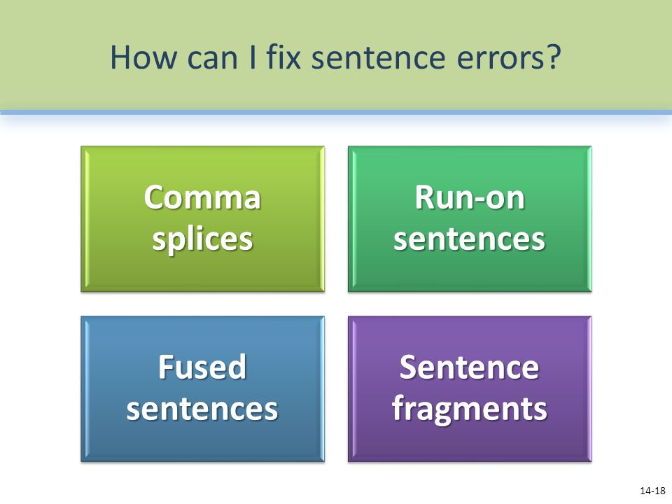 How can I fix sentence errors
