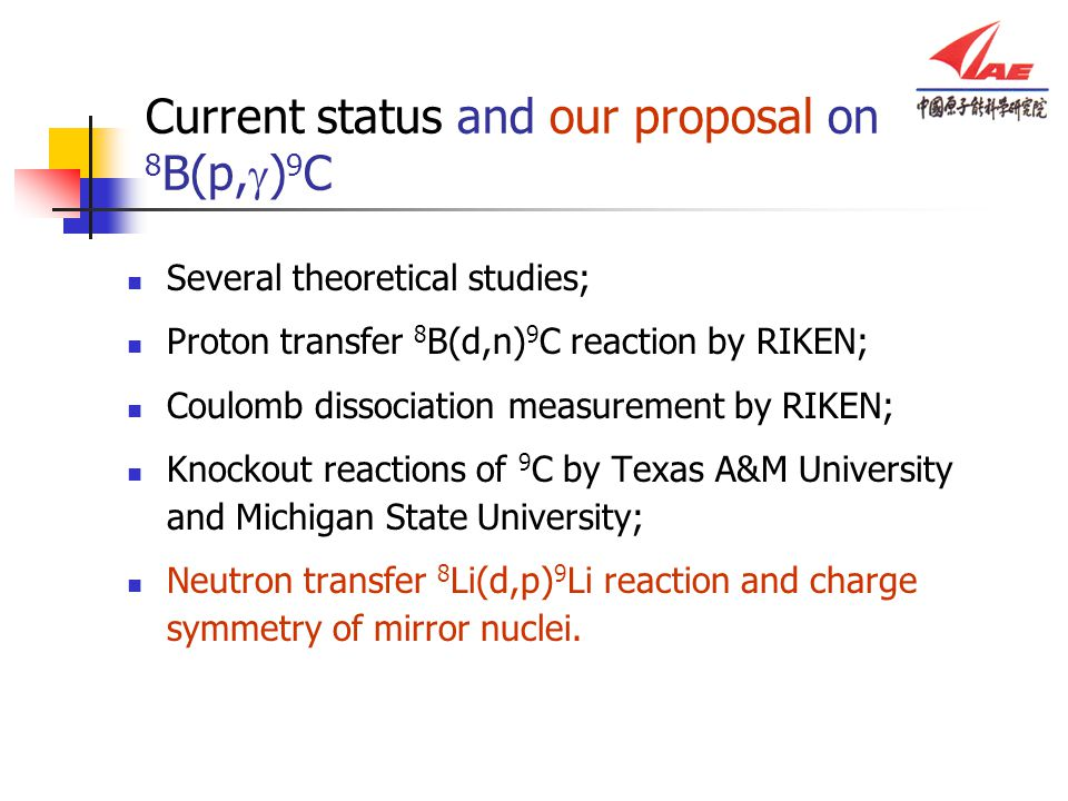 Current status and our proposal on 8B(p,g)9C