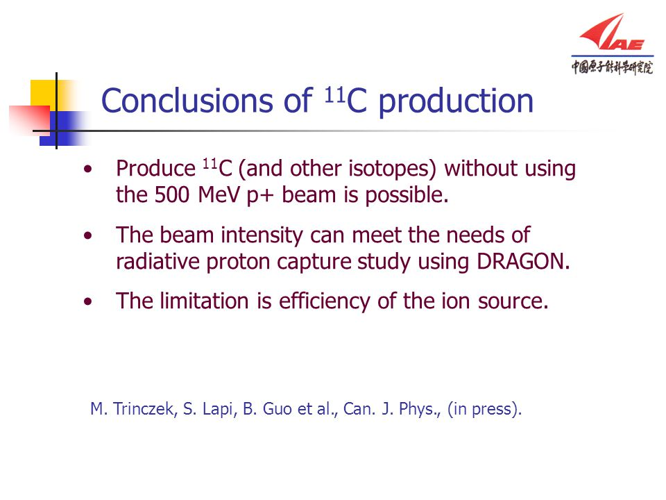Conclusions of 11C production