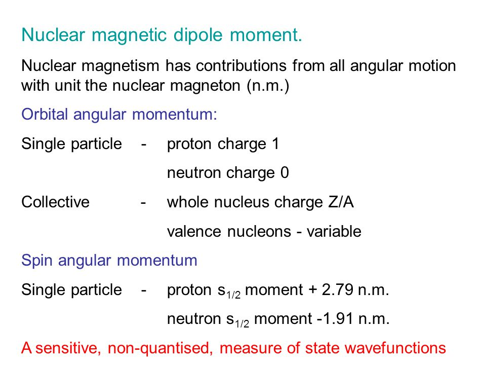 Nuclear magnetic dipole moment.