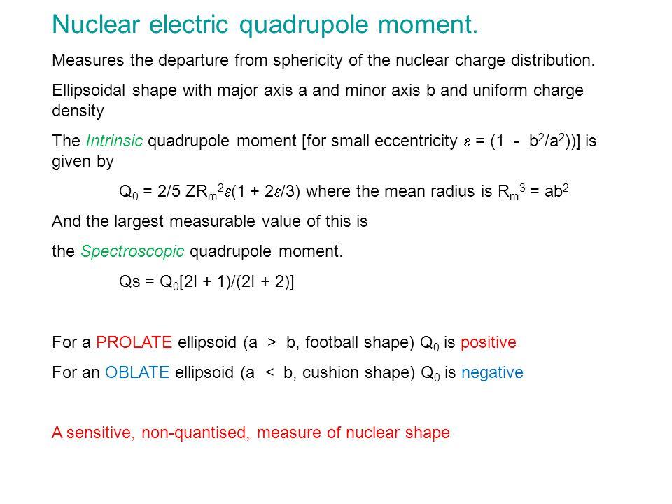 Nuclear electric quadrupole moment.