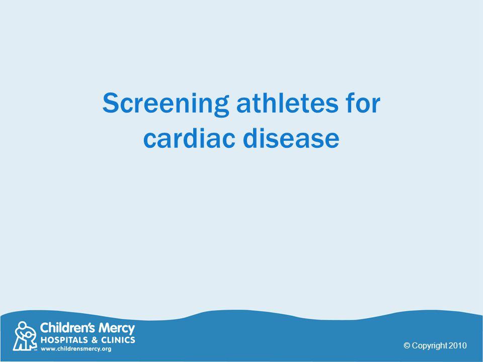 Screening athletes for cardiac disease
