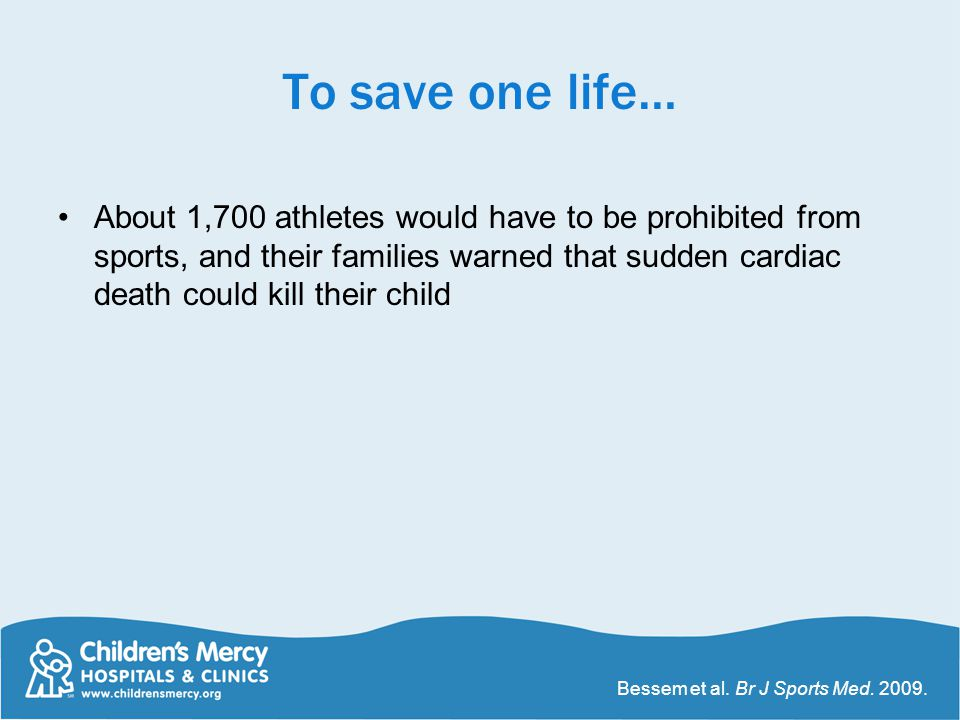 To save one life…