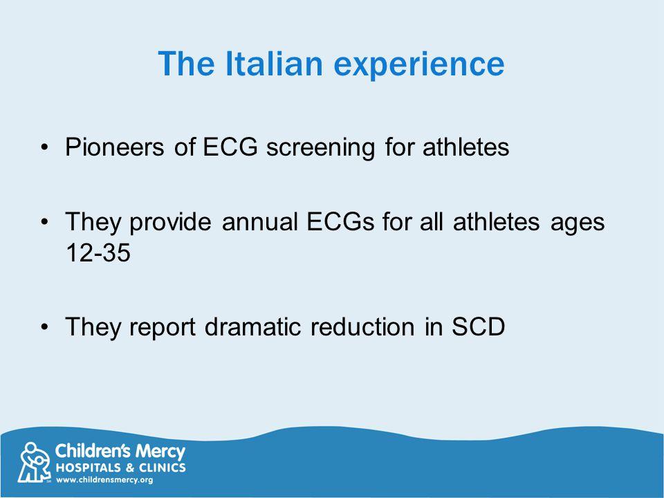 The Italian experience