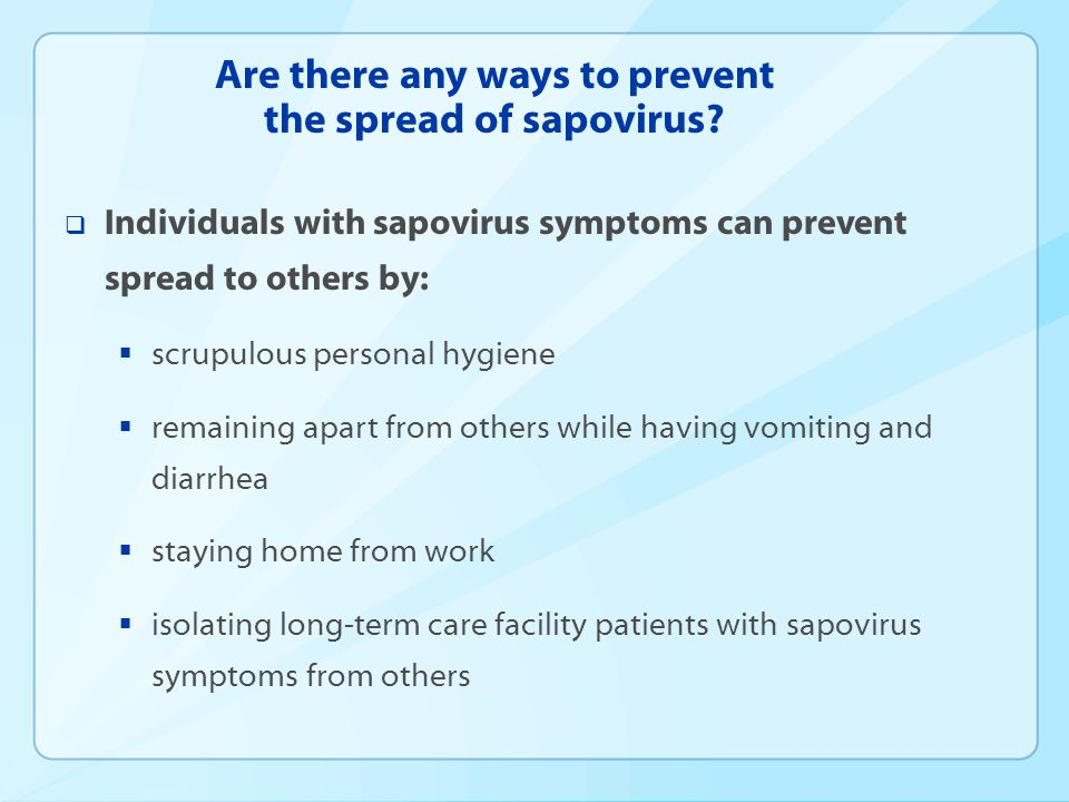 Are there any ways to prevent the spread of sapovirus