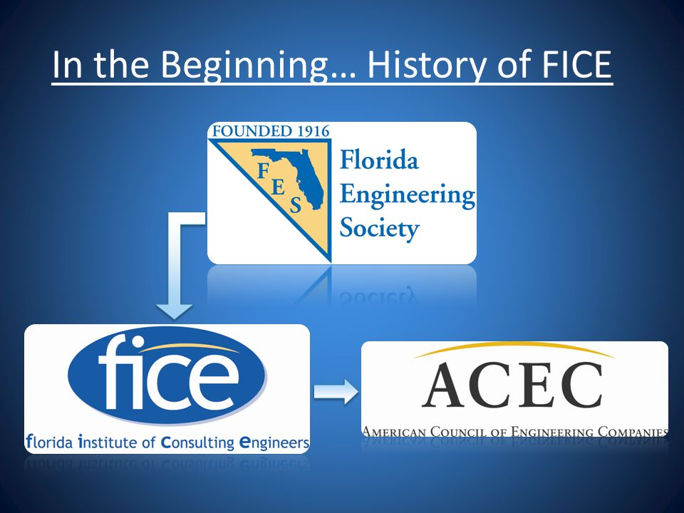 In the Beginning… History of FICE