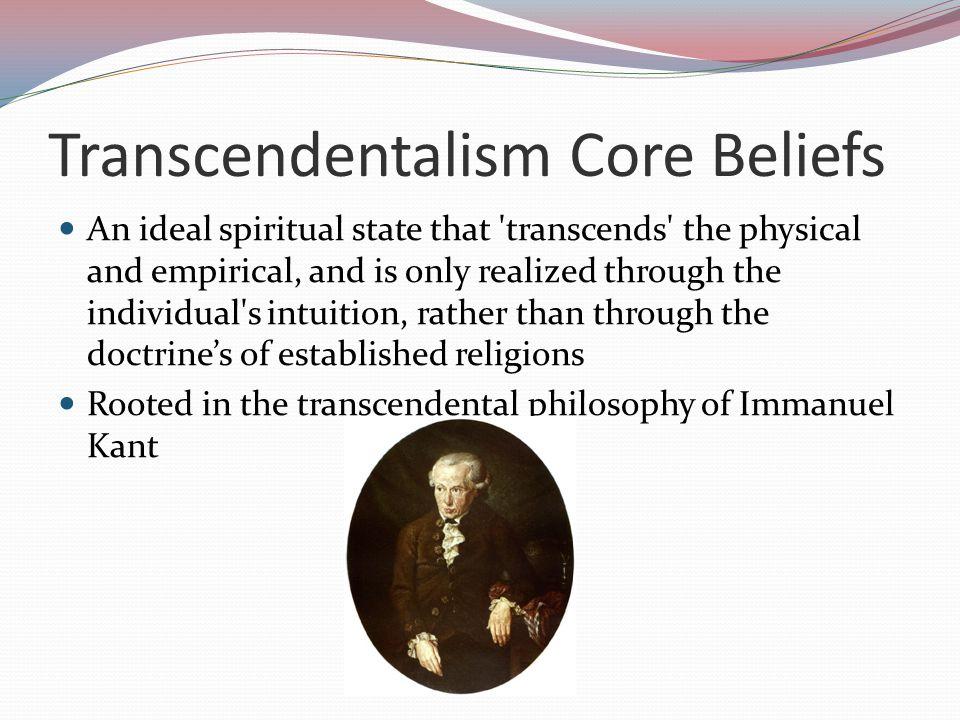 Transcendentalism Core Beliefs